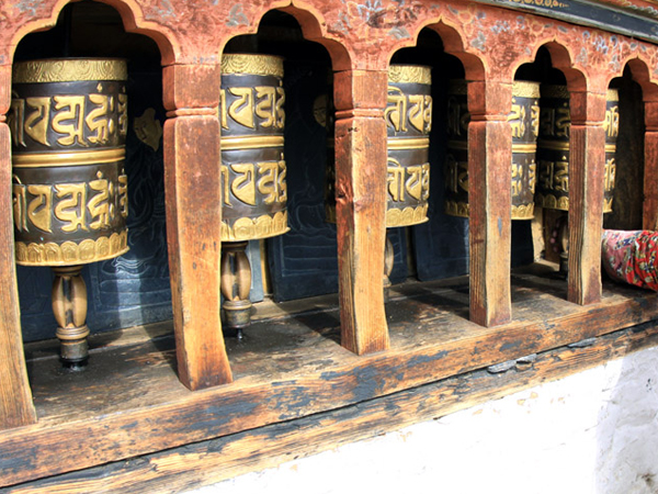 Prayer Wheel at Changangkha Lhakhang